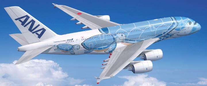 ANA A380 空飛ぶウミガメ