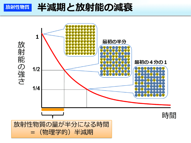 半減期と放射能の減衰